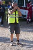 Πείνα που οργανώνεται (Ρώμη) - ΠΕΠ - φωτογράφος με την αντανάκλαση Στοκ εικόνες με δικαίωμα ελεύθερης χρήσης