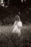 πεδία παιδιών bw Στοκ φωτογραφίες με δικαίωμα ελεύθερης χρήσης