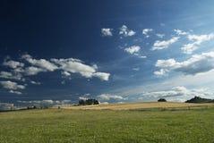 πεδία σύννεφων Στοκ φωτογραφία με δικαίωμα ελεύθερης χρήσης