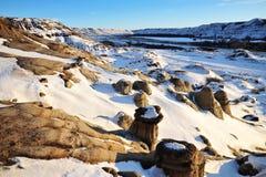 πεδίο Αλμπέρτα badlands Στοκ Εικόνες