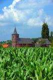 πεδίο καλαμποκιού 2 εκκλησιών στοκ φωτογραφίες με δικαίωμα ελεύθερης χρήσης