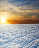 πεδίο πέρα από το ηλιοβασί&lam Στοκ Εικόνες
