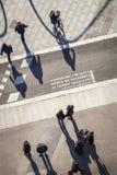Πεζοί σε Plaza Espana Στοκ εικόνες με δικαίωμα ελεύθερης χρήσης