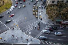 Πεζοί σε Plaza Espana Στοκ Φωτογραφία