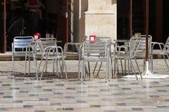 πεζοδρόμιο καφέδων Στοκ Εικόνες