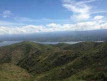 Πεζοπορία οι οροσειρές Chicas σε Casa Bamba μέχρι το SAN Roque, CÃ ³ rdoba, Αργεντινή στοκ φωτογραφία