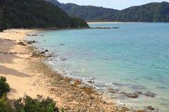 Πεζοπορία σε Abel Tasman National Park Στοκ εικόνα με δικαίωμα ελεύθερης χρήσης