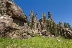 Πεζοπορία στο κρατικό πάρκο Custer, νότια Ντακότα στοκ εικόνες