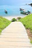 Πεζοπορία στο νησί Padar, Flores Στοκ Εικόνες