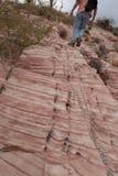 Πεζοπορία του κόκκινου φαραγγιού βράχου στη Νεβάδα Στοκ φωτογραφία με δικαίωμα ελεύθερης χρήσης