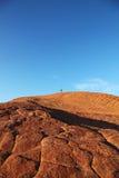 Πεζοπορία των πετρώνων αμμόλοφων του κρατικού πάρκου φαραγγιών χιονιού Στοκ φωτογραφία με δικαίωμα ελεύθερης χρήσης