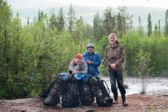 πεζοποριεις ταξιδιώτε&sig Στοκ φωτογραφία με δικαίωμα ελεύθερης χρήσης