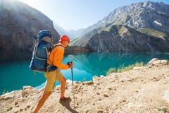 Πεζοπορώ στα βουνά Fann στοκ εικόνες με δικαίωμα ελεύθερης χρήσης