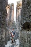 Πεζοπορώ φαραγγιών Tsingy Στοκ Εικόνες
