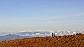 Πεζοπορώ Haleakala Στοκ Φωτογραφίες