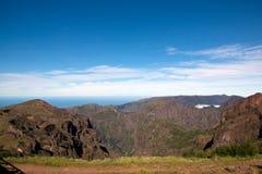 Πεζοπορώ Pico do Arieiro, βουνό στη Μαδέρα Στοκ εικόνα με δικαίωμα ελεύθερης χρήσης