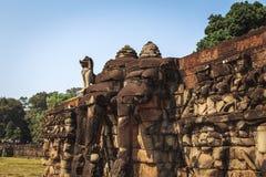 Πεζούλι των ελεφάντων σε Angkor Thom Στοκ φωτογραφία με δικαίωμα ελεύθερης χρήσης