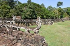 Πεζούλι των ελεφάντων σε Angkor Thom σε Siemreap, Καμπότζη Στοκ φωτογραφία με δικαίωμα ελεύθερης χρήσης
