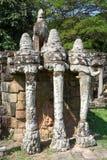 Πεζούλι των ελεφάντων σε Angkor Thom σε Siemreap, Καμπότζη Στοκ Εικόνα