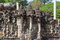 Πεζούλι των ελεφάντων σε Angkor Thom σε Siemreap, Καμπότζη Στοκ φωτογραφίες με δικαίωμα ελεύθερης χρήσης