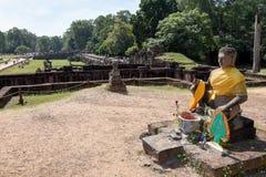 Πεζούλι των ελεφάντων σε Angkor Thom σε Siemreap, Καμπότζη Στοκ εικόνα με δικαίωμα ελεύθερης χρήσης