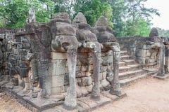 Πεζούλι των ελεφάντων, Angkor Thom Στοκ εικόνες με δικαίωμα ελεύθερης χρήσης