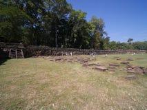 Πεζούλι των ελεφάντων, Angkor Thom Στοκ Εικόνα