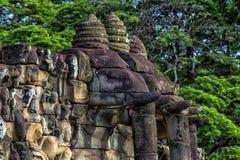 Πεζούλι των ελεφάντων, Angkor Thom Στοκ Εικόνες
