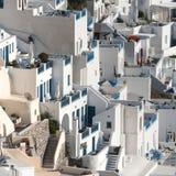 Πεζούλια σε Fira, Santorini Στοκ Εικόνα