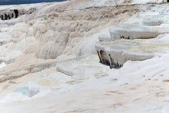 Πεζούλια τραβερτινών Pamukkale, Τουρκία Στοκ Εικόνες