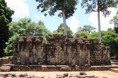 Πεζούλι των ελεφάντων σε Angkor Στοκ Φωτογραφία