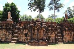 Πεζούλι των ελεφάντων σε Angkor Στοκ εικόνες με δικαίωμα ελεύθερης χρήσης