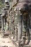 Πεζούλι των ελεφάντων σε Angkor Thom Στοκ Φωτογραφία