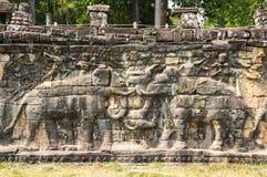 Πεζούλι των ελεφάντων Στοκ Εικόνες
