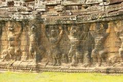 Πεζούλι των ελεφάντων, Angkor Thom Στοκ Φωτογραφίες