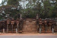 Πεζούλι των ελεφάντων, Angkor Thom Στοκ Φωτογραφία