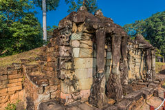 Πεζούλι Angkor Thom ελεφάντων Στοκ Εικόνες