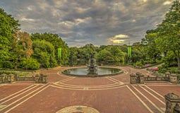 Πεζούλι Central Park, πόλη Bethesda της Νέας Υόρκης Στοκ Φωτογραφίες