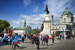 Πεζούλι Dufferin στην πόλη του Κεμπέκ Στοκ εικόνα με δικαίωμα ελεύθερης χρήσης