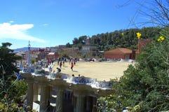 Πεζούλι Guell πάρκων, Βαρκελώνη Στοκ Εικόνες