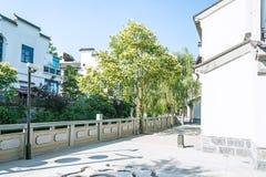 πεζοδρόμιο κατά μήκος του ποταμού Qinghuai Στοκ φωτογραφίες με δικαίωμα ελεύθερης χρήσης