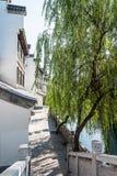 πεζοδρόμιο κατά μήκος του ποταμού Qinghuai Στοκ Εικόνες