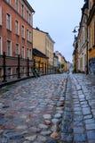 Πεζοδρόμιο κυβόλινθων στη Στοκχόλμη Στοκ φωτογραφία με δικαίωμα ελεύθερης χρήσης