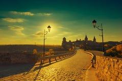 Πεζοδρόμιο στο αρχαίο κάστρο Χρυσό stylisation Στοκ φωτογραφίες με δικαίωμα ελεύθερης χρήσης