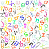Πεζό αλφάβητο Στοκ εικόνα με δικαίωμα ελεύθερης χρήσης