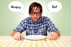 Πεινασμένος και λυπημένος Στοκ Φωτογραφίες