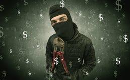 Πεινασμένος κλέφτης χρημάτων Στοκ Εικόνα