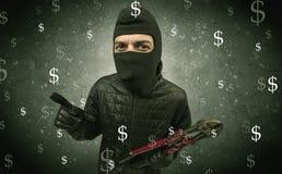 Πεινασμένος κλέφτης χρημάτων Στοκ Εικόνες
