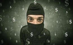 Πεινασμένος κλέφτης χρημάτων Στοκ Φωτογραφίες