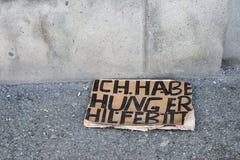 Πεινασμένος, παρακαλώ βοηθήστε, Μόναχο Στοκ εικόνα με δικαίωμα ελεύθερης χρήσης